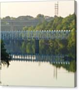The Falls And Roosevelt Expressway Bridges - Philadelphia Canvas Print