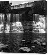 The Falls In Black And White Canvas Print