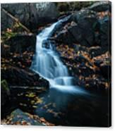 The Falls Of Black Creek In Autumn II Canvas Print