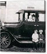 The Family Car Canvas Print