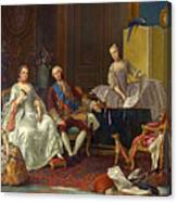The Family Of Philip Of Parma  Canvas Print