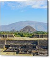 The Famous Pyramid Of The Sun Canvas Print