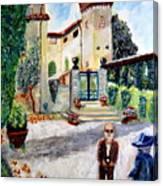 The Farm In Montelopio -pisa Canvas Print