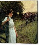 The Farmer's Daughter Canvas Print