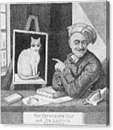 The Favourite Cat And De La Tour The Painter Canvas Print