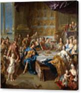 The Feast Of Dido And Aeneas. An Allegorical Portrait Of The Family Of The Duc And Duchesse Du Maine Canvas Print