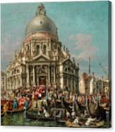 The Feast Of The Madonna Della Salute In Venice Canvas Print