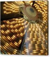 The Ferris Wheel At Night Canvas Print