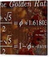 The Fibonacci Equation Catus 1 No. 1 H  Canvas Print