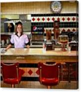 The Fifties Diner Canvas Print