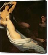 The Figures Of Francesca Da Rimini And Paolo Da Verrucchio Appear To Dante And Virgil Canvas Print