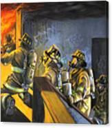 The Fire Floor Canvas Print