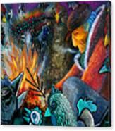 The Fire Tender Canvas Print