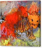 The Firecat Canvas Print