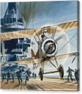 The First Deck Landing Canvas Print