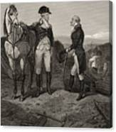 The First Meeting Of George Washington And Alexander Hamilton Canvas Print