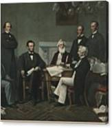 The First Reading Of The Emancipation Canvas Print