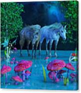 The First Time We Saw Horses Canvas Print