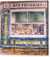 The Fish And Chip Shop Canvas Print