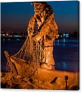The Fisherman After Nightfall Canvas Print