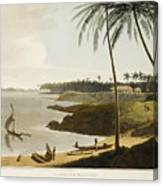 The Fishing Cove Near Columbo Canvas Print