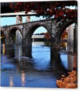 The Five Bridges - East Falls - Philadelphia Canvas Print