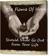 The Flame Of Hope Canvas Print