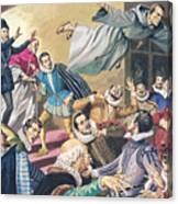 The Flight Of Father Dominic Canvas Print