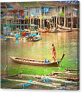 The Floating Village Canvas Print