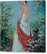 The Florist In A Red Kerchief Canvas Print