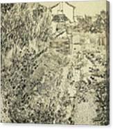 Superieur By Vincent Van Gogh. The Flower Garden, 1888 Canvas Print