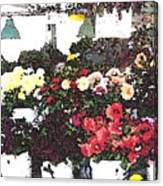 The Flower Market Canvas Print