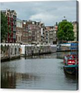 The Flowermarket Canal Canvas Print