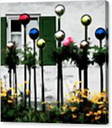 The Flowers And The Balls Canvas Print