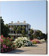 The Flowers At The Battery Charleston Sc Canvas Print