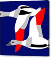 The Flying Ducks Canvas Print