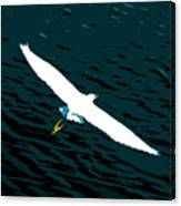 The Flying Egret Canvas Print