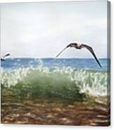 The Flying Instant Of Surf Canvas Print