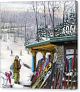 The Foggy Goggle At Seven Springs Canvas Print