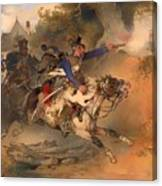 The Foraging Hussar 1840 Canvas Print