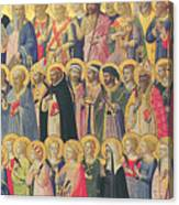 The Forerunners Of Christ With Saints And Martyrs Canvas Print