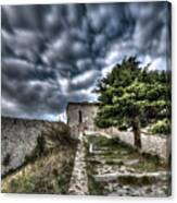 The Fortress The Tree The Clouds Canvas Print