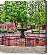 The Fountain At Radford University Canvas Print
