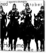 The Four Horsemen Of Notre Dame Canvas Print