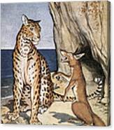 The Fox And The Leopard Canvas Print