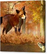 The Fox And The Turtle Canvas Print