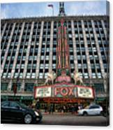 The Fox Theatre In Detroit Welcomes Charlie Sheen Canvas Print