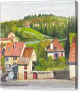 The French Village Of Billy In The Auvergne Canvas Print