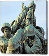 The Front Up Close -- The Iwo Jima Monument Canvas Print