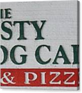 The Frosty Frog Cafe Sign Canvas Print